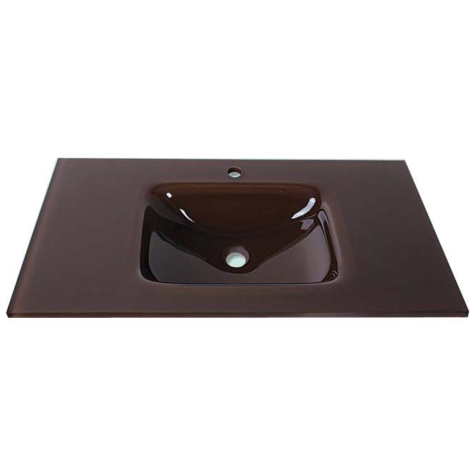 Gloria Glass Form Brown 76x46 Νιπτήρας Κρυστάλλινος Επικαθήμενος Καφέ 28-9001