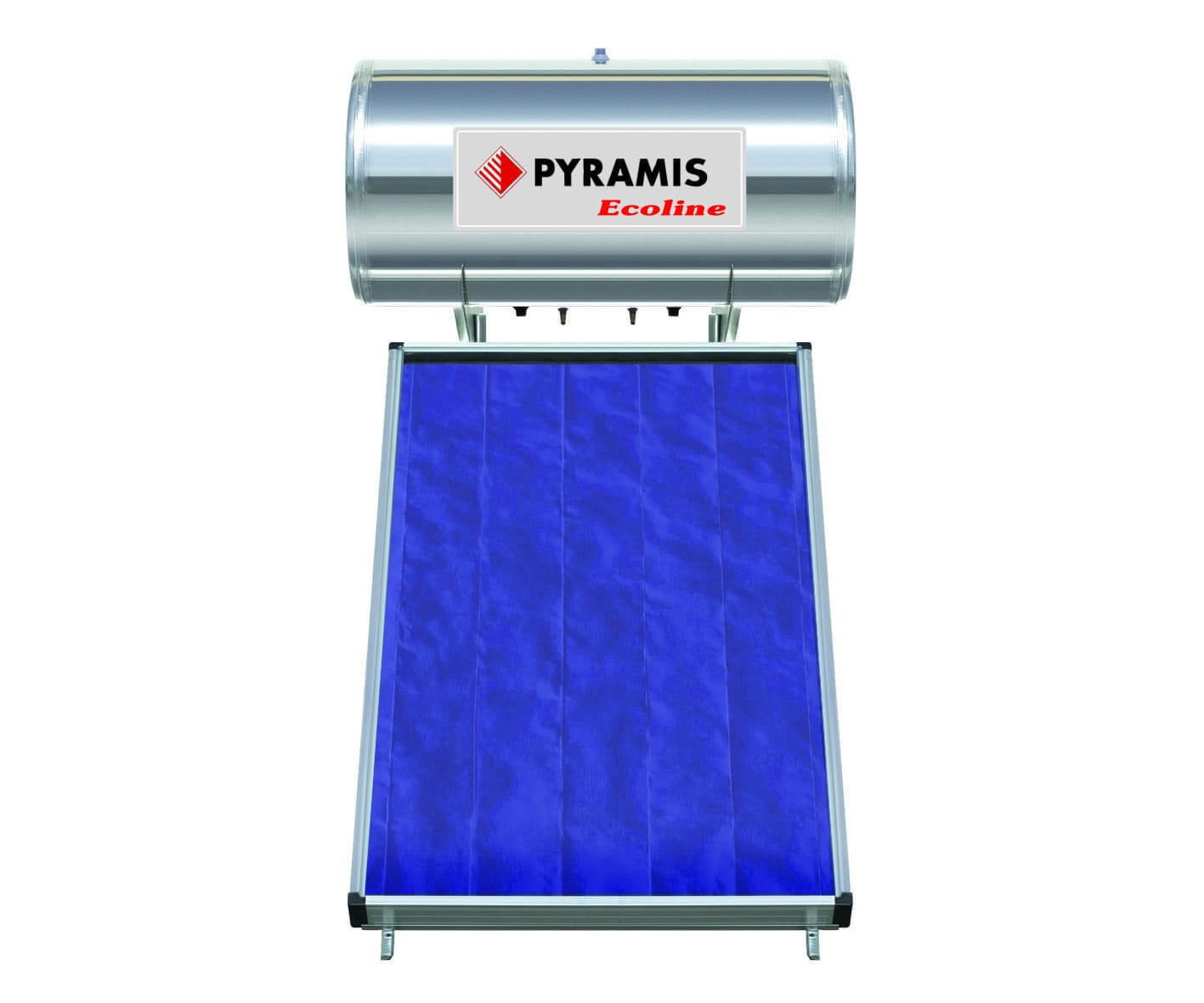 Pyramis Ηλιακός Θερμοσίφωνας 160lt Διπλής Ενεργείας 026000307 ECOLINE