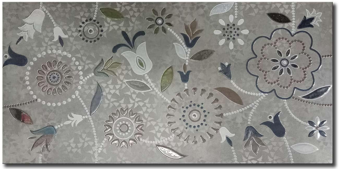 Nirvana Verde Decore 25x50 Πλακάκι Λουτρού Latina Ceramic